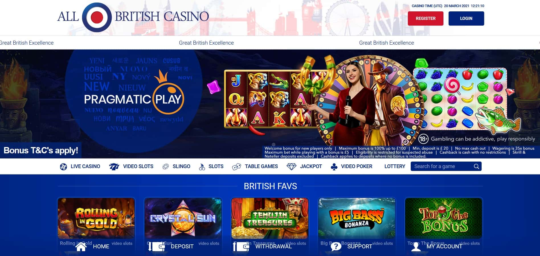 A Complete Review of All British Casino