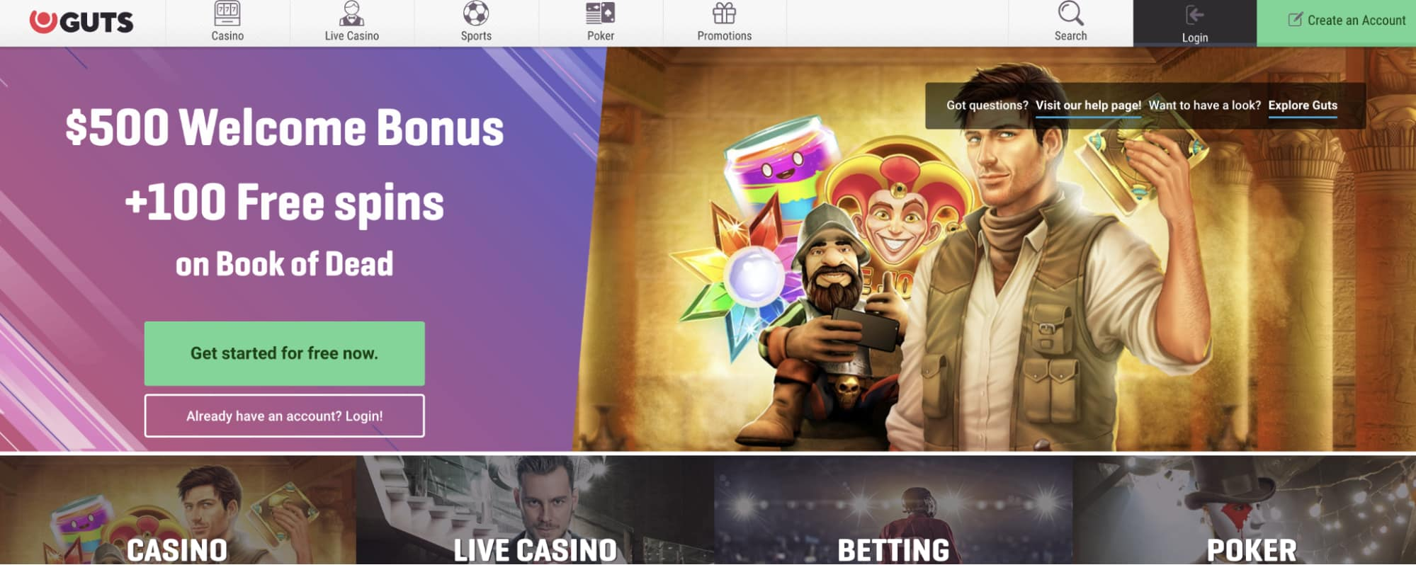 How to Make Money at Guts Casino