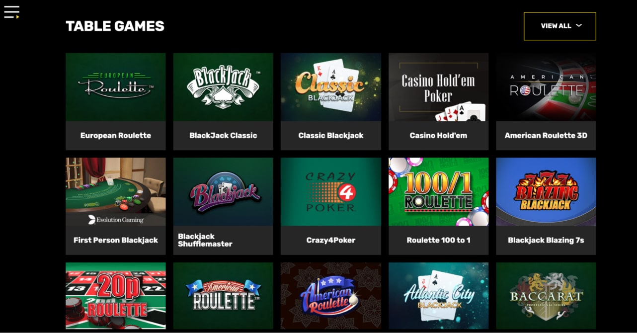 Hyper Casino Table Games