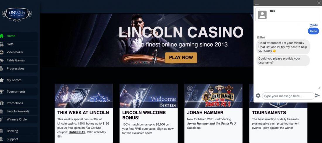 Lincoln Casino Games
