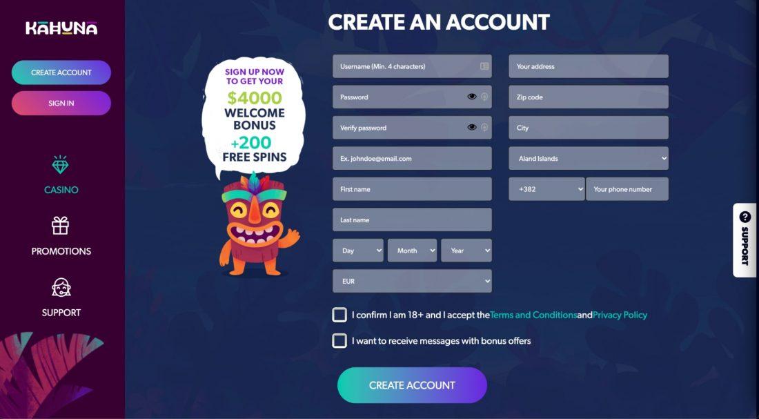 kahuna-casino-registration