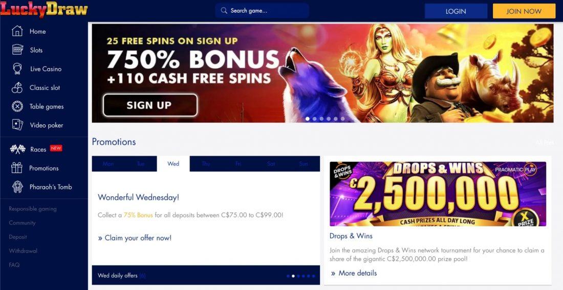 lucky-draw-casino-welcome-bonus