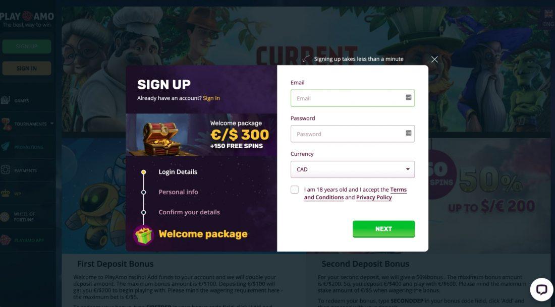 PlayAmo-casino-signup
