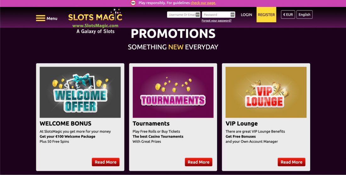 Slots magic casino promotions
