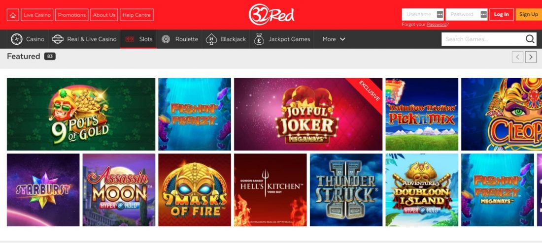 32Red Casino games