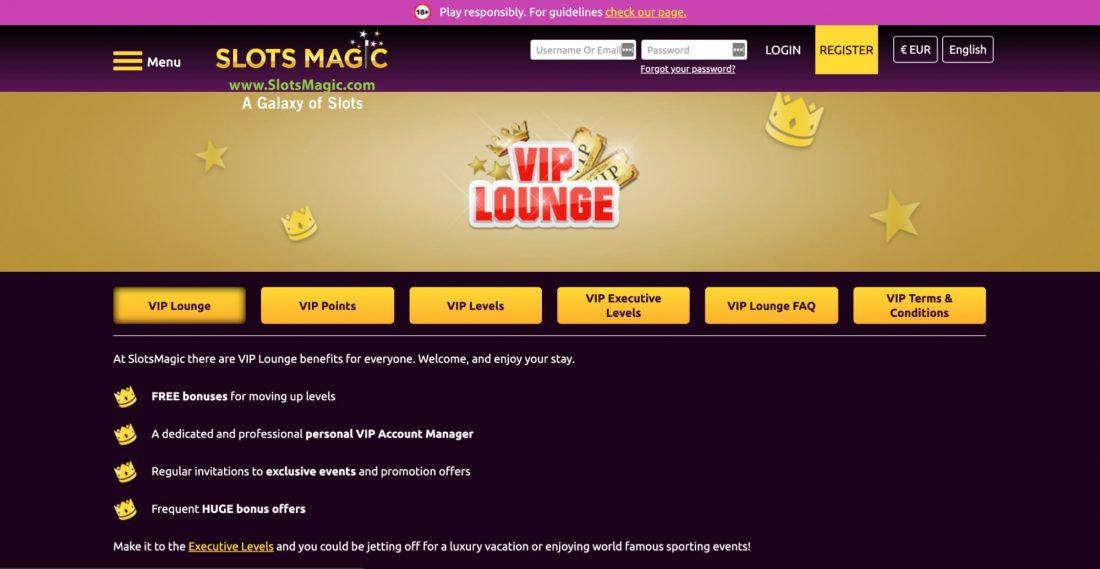Slots magic casino vip lounge