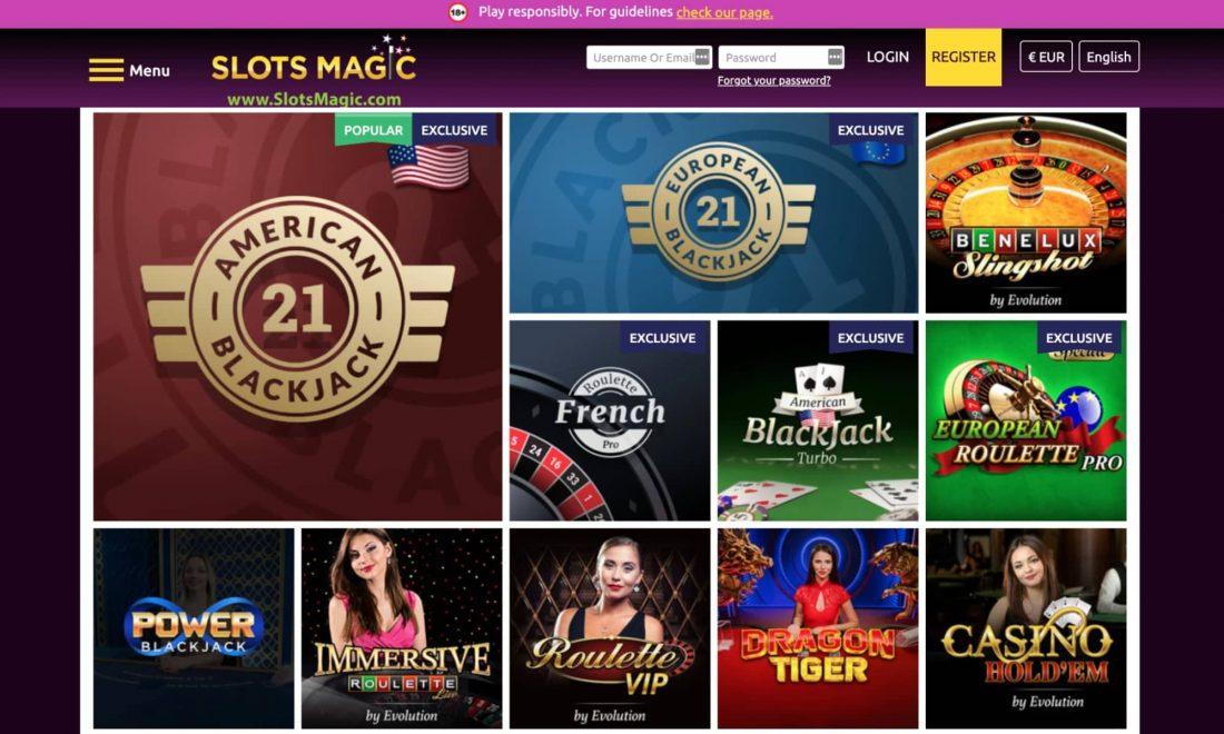 Slots magic casino blackjack