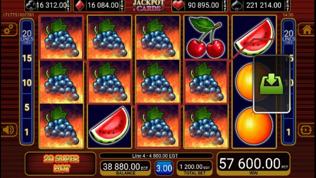 jackpot cards fruits