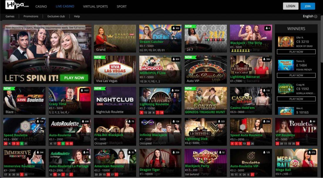 hopa-casino-Live-Dealers