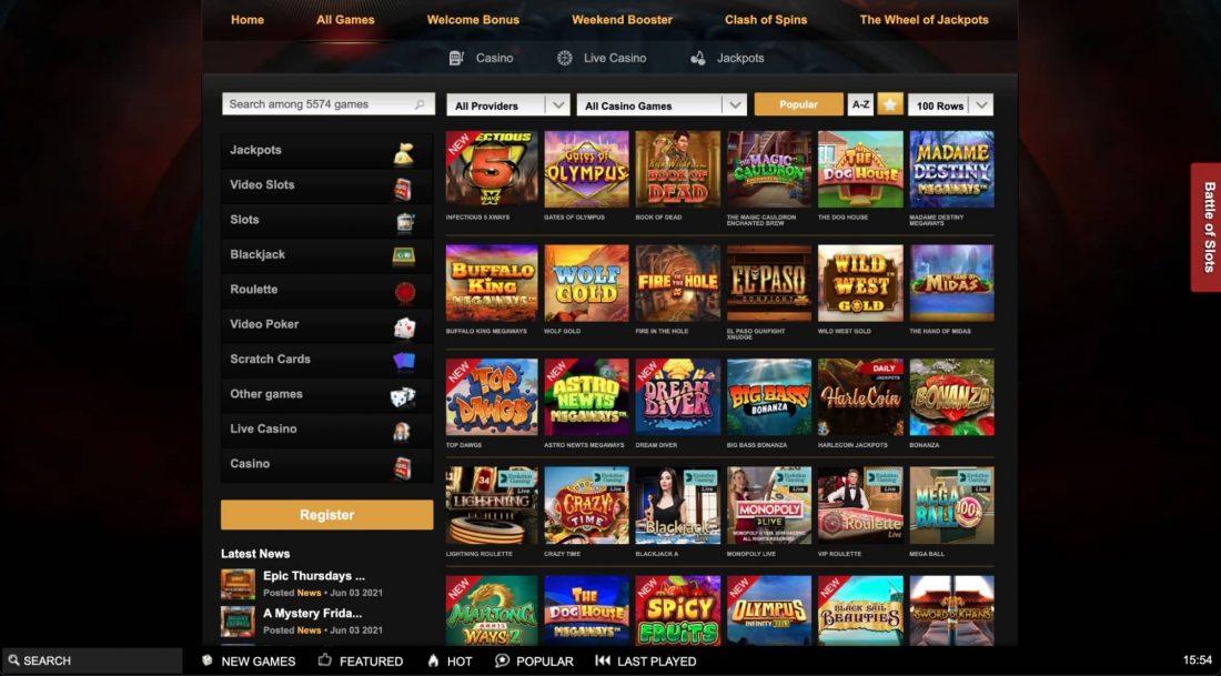 Videoslots-Casino-games