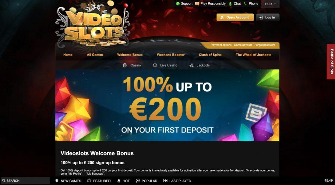Videoslots-Casino-welcome-bonus