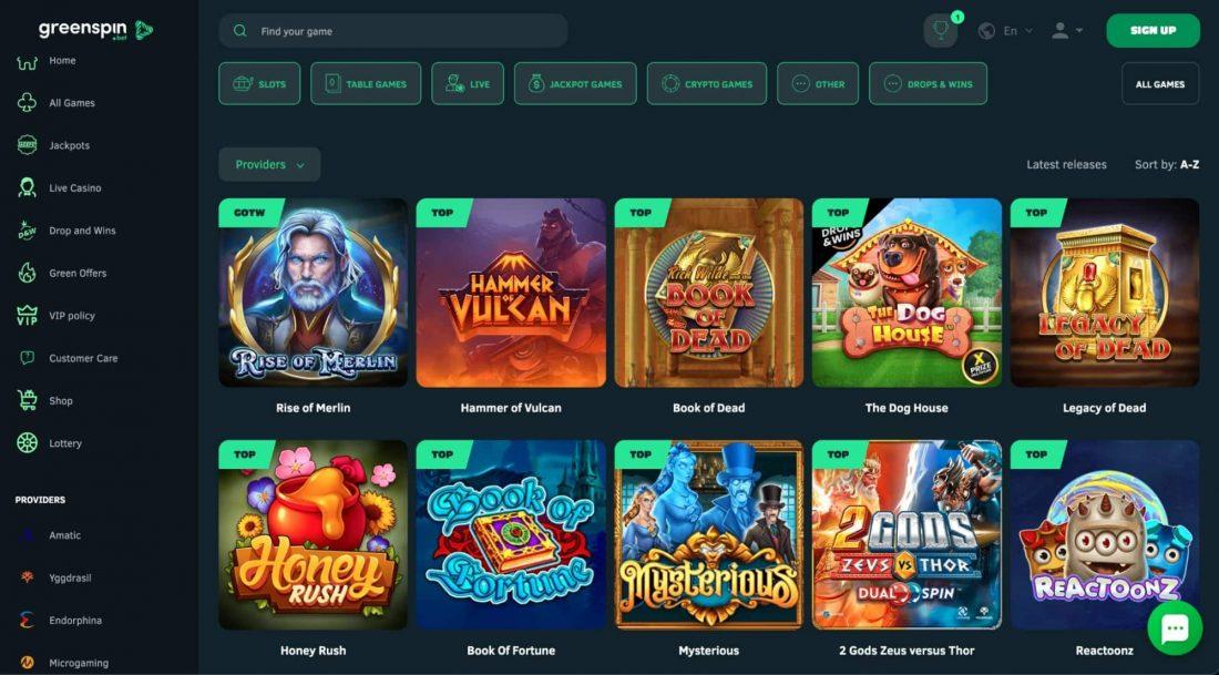 GreenSpin-Casino-Games