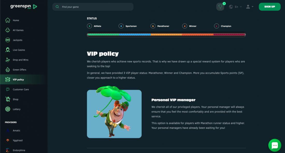 GreenSpin-Casino-vip-program