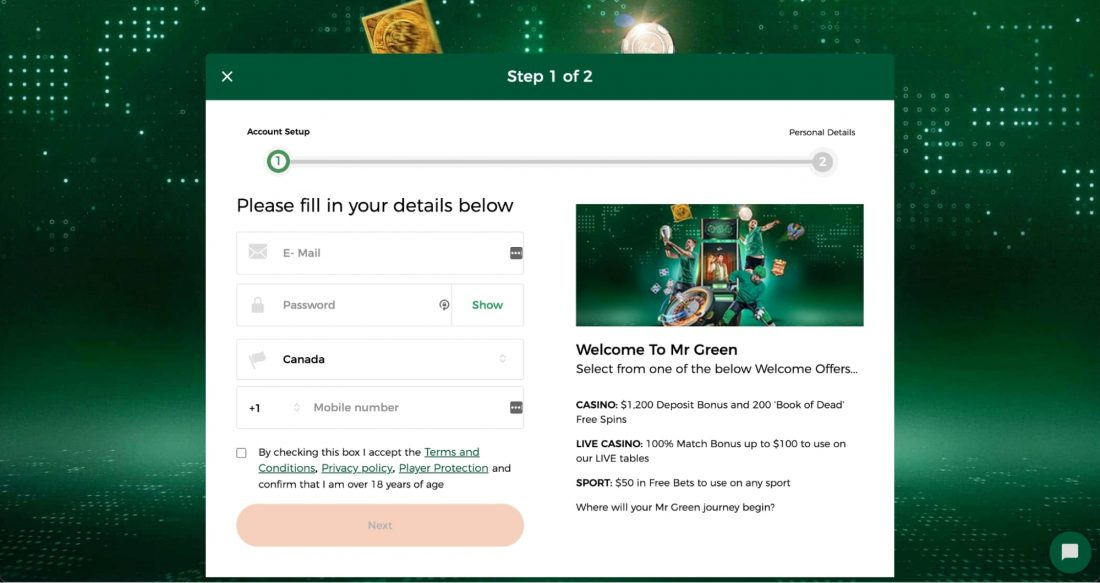 mr-green-casino-login-process