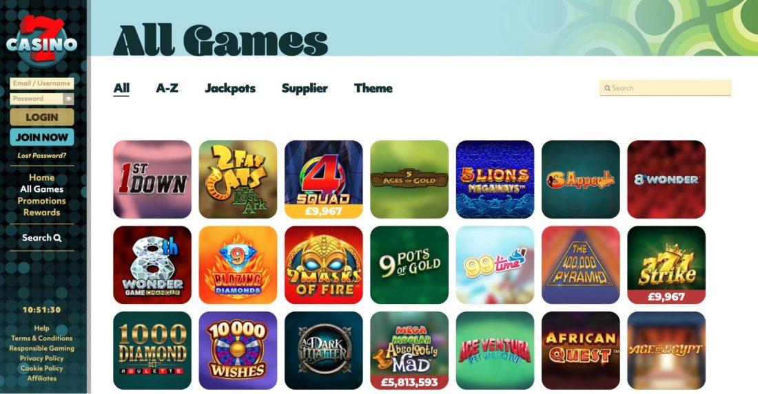 7casino games