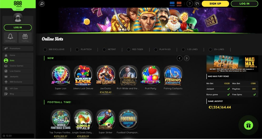 888-casino-games-offered