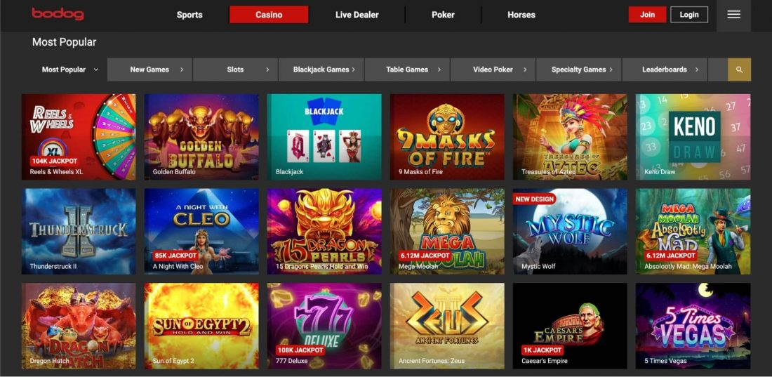 Bodog Casino Games