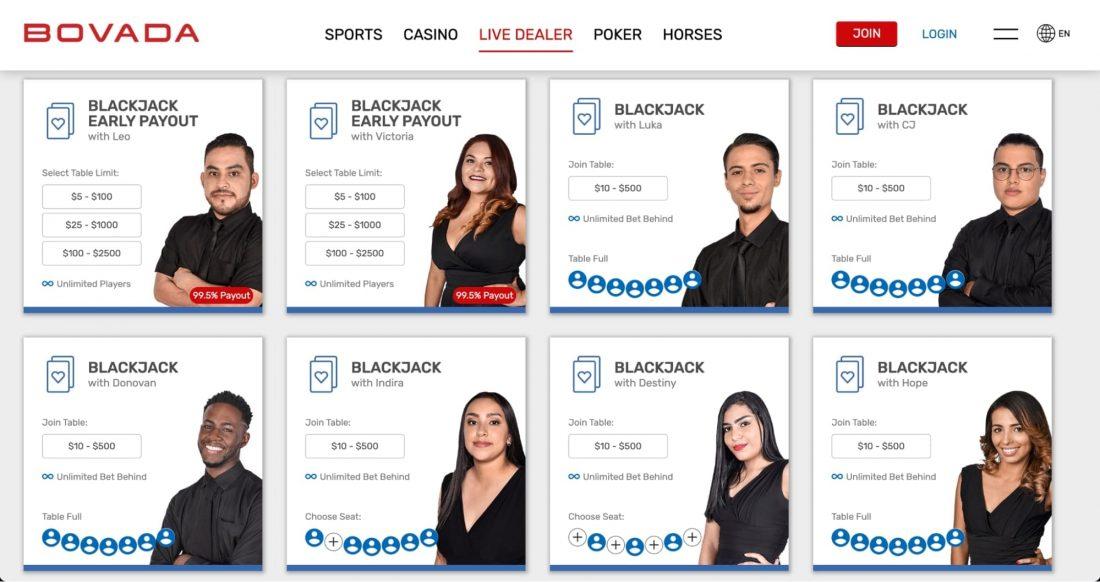 bovada-casino-live-dealer-games