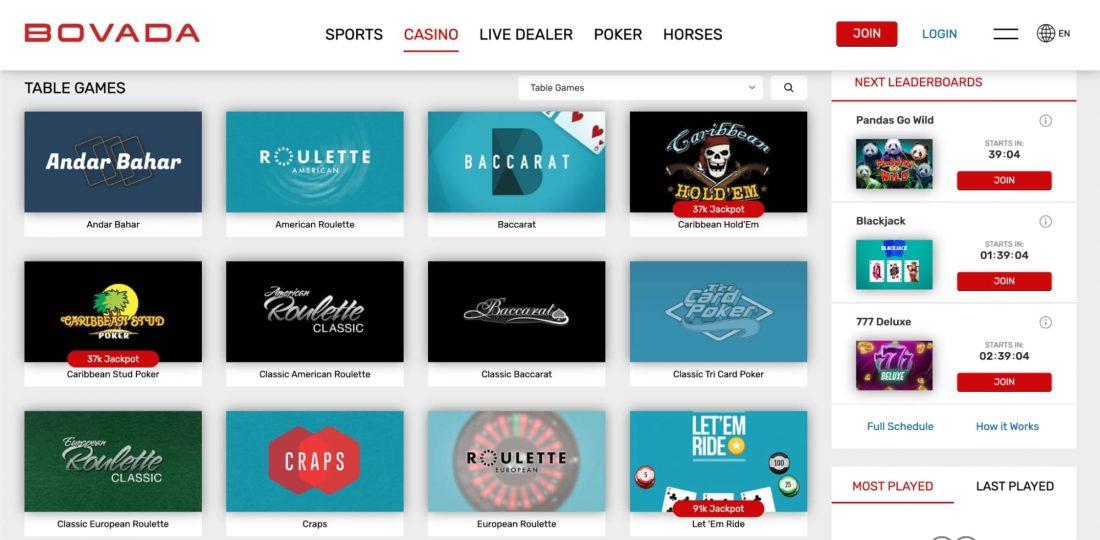 bovada-casino-table-games
