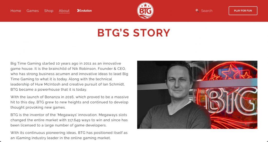 big time gaming story