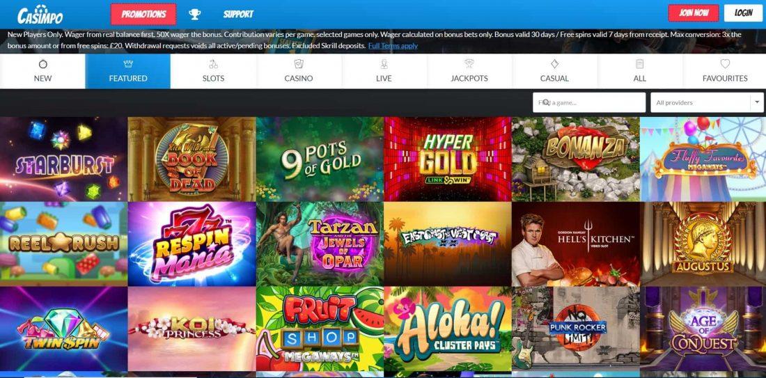 Casimpo Casino Games