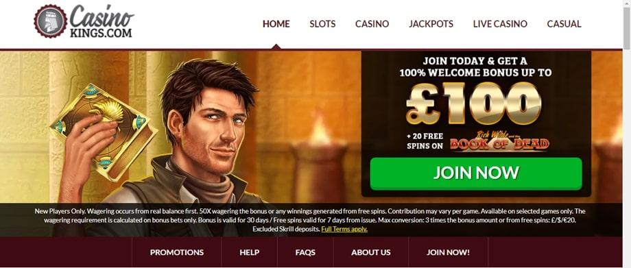 Casino Kings Welcome Bonus