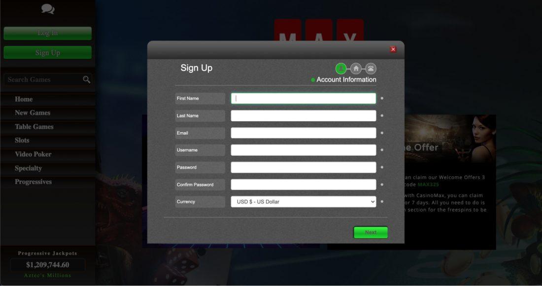 casinomax-log-in-process