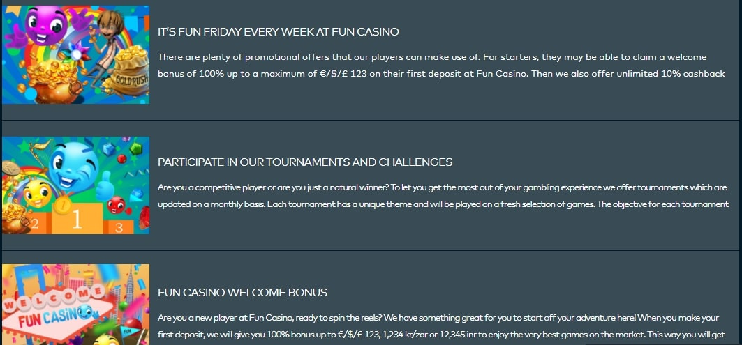 Fun Casino Promotions