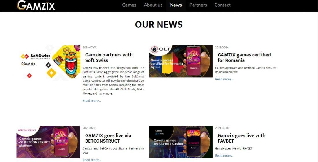 Gamzix news