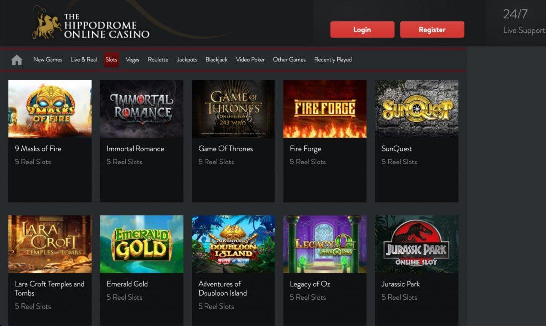 Hippodrome casino slots