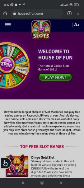 House of fun mobile app
