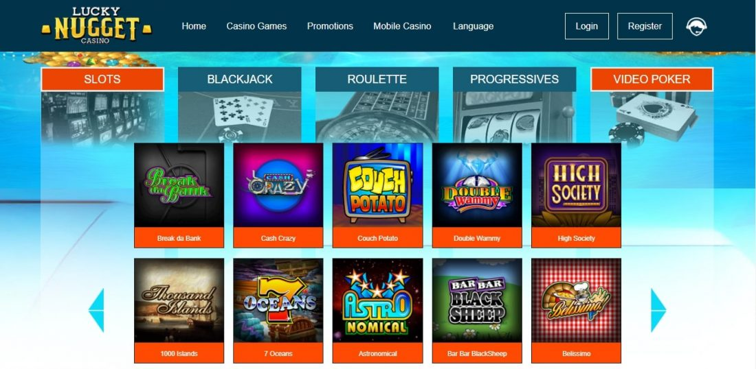 Lucky Nugget Casino Games
