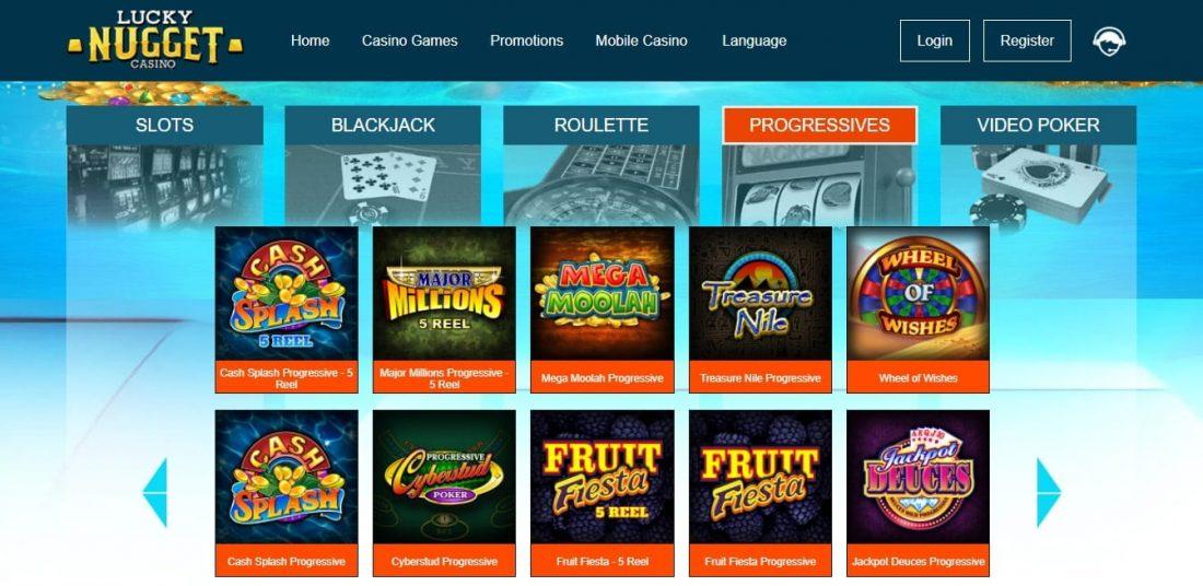Lucky Nugget Progressive jackpot games