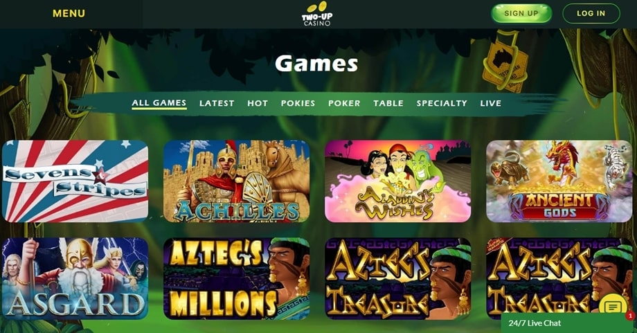 two-up-casino-games-offered