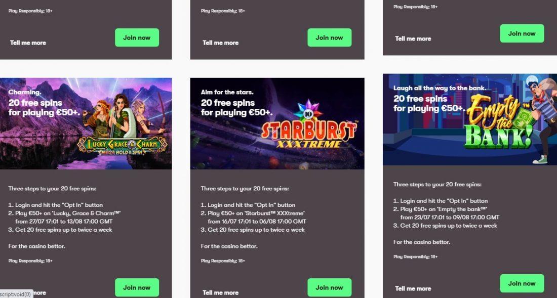 10Bet Casino Promotions