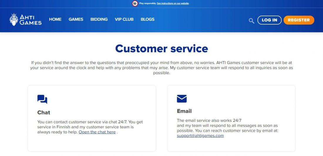 AHTI Customer Support