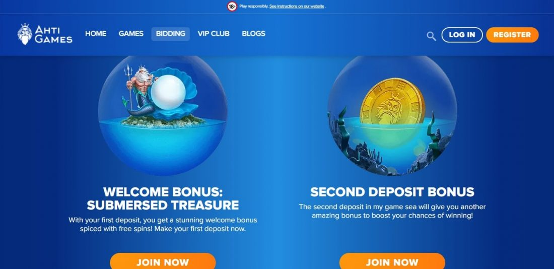 AHTI Games Casino Welcome Bonus
