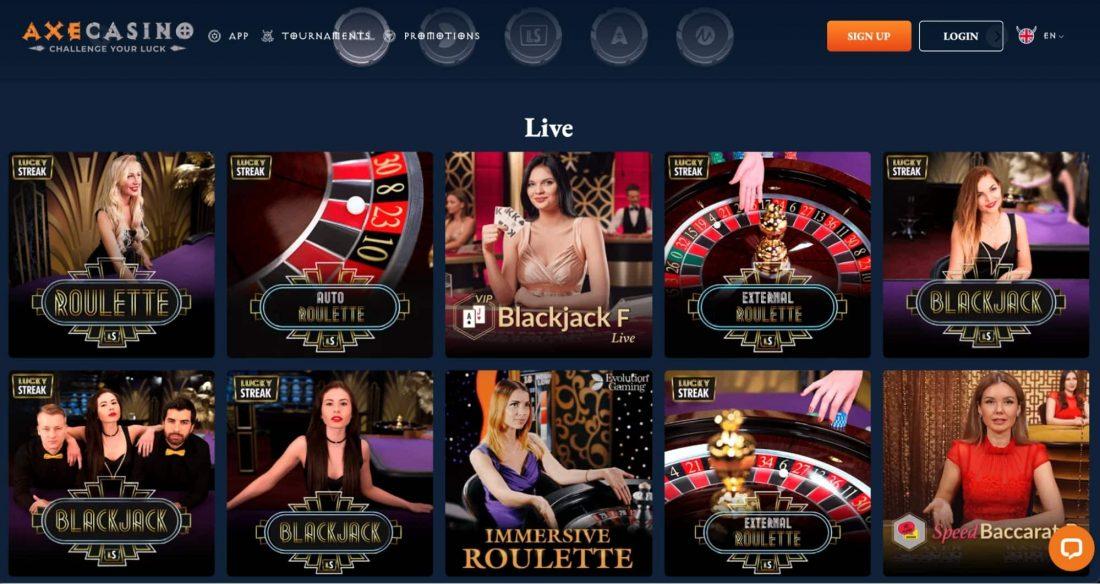 Axe Casino Live
