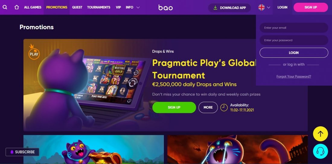 Bao Casino Login