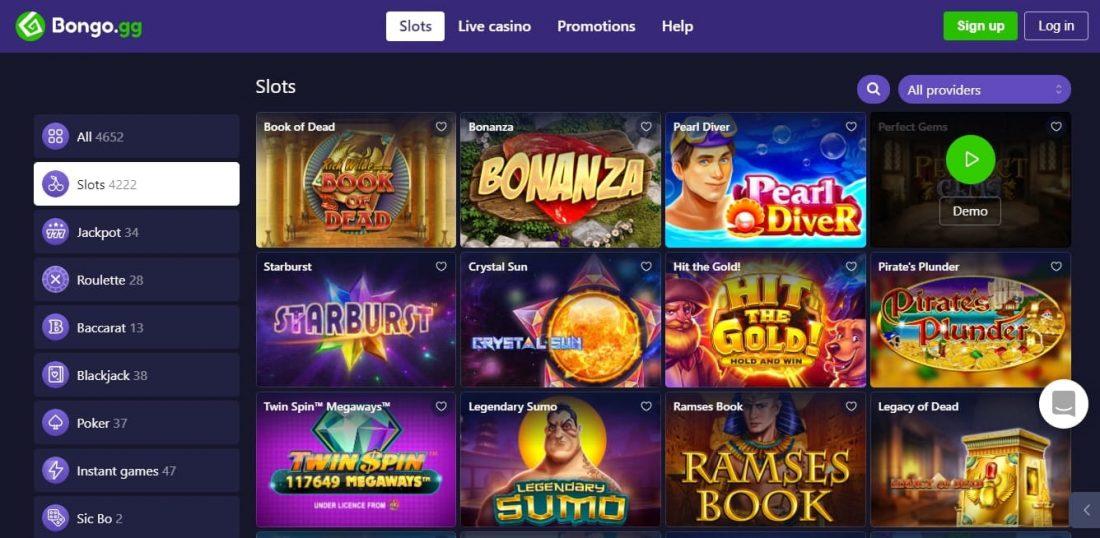 Bongo Casino Games