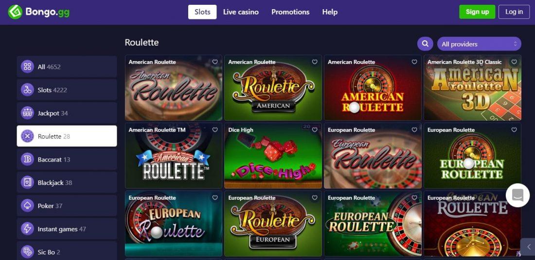 Bongo Casino Roulette