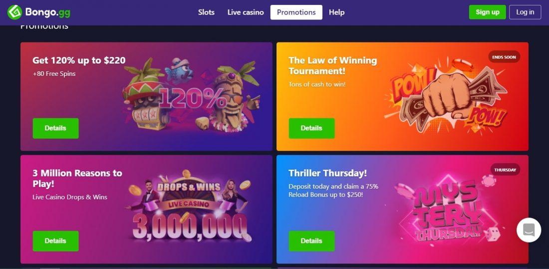 Bongo Casino Welcome Bonus