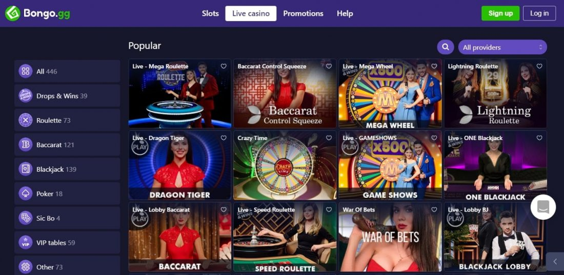 Bongo Live Casino