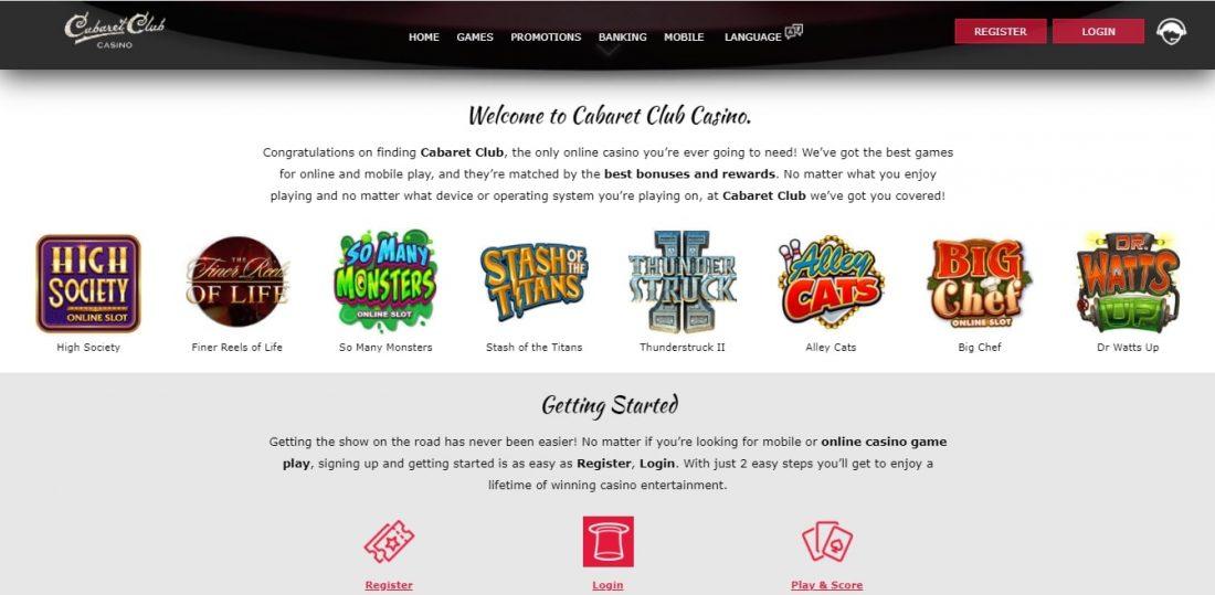 Cabaret Club Casino Games