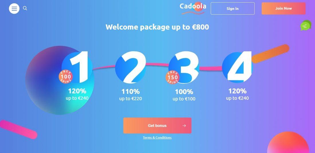 Cadoola Casino Welcome Bonus