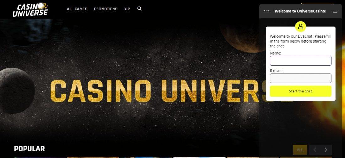 Casino Universe Customer Support