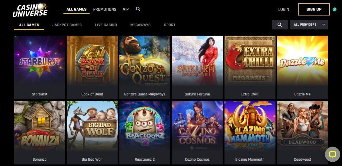 Casino Universe Games