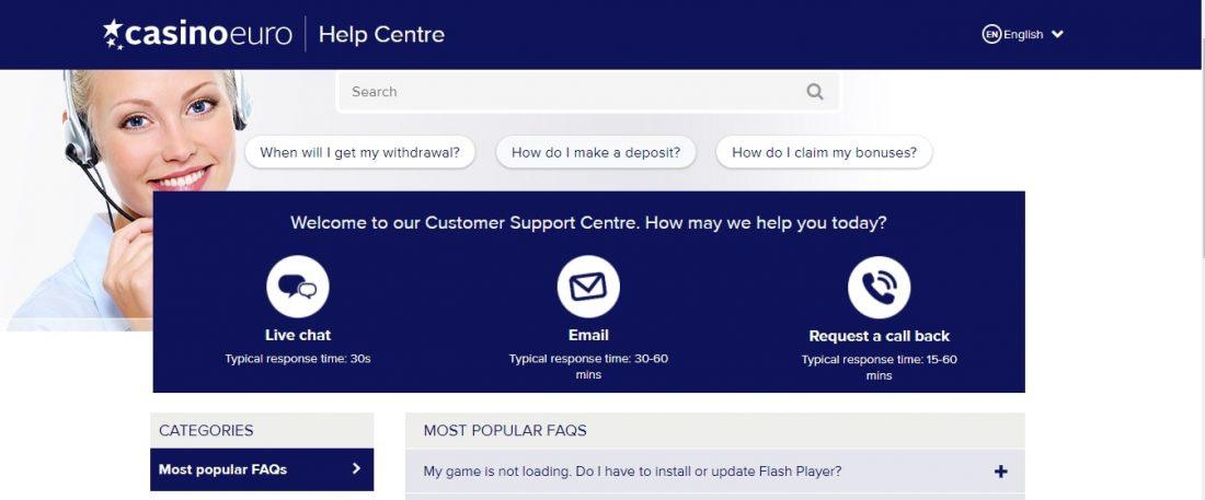 CasinoEuro Customer Support