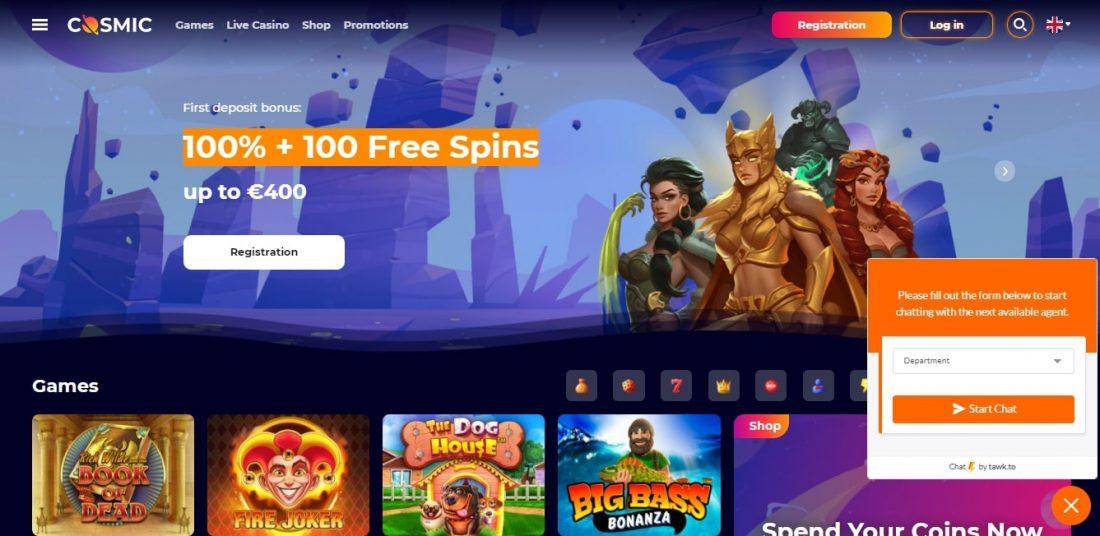 CosmicSlot Casino Customer Support