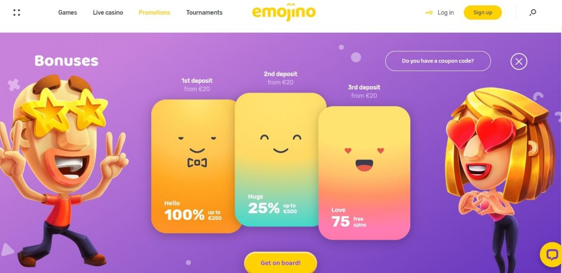 Emojino Casino Welcome Bonus